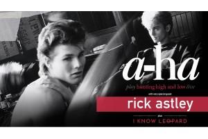 a-ha with Rick Astley