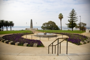 Kings Park Ceremonial Walk features the Court of Contemplation and the Cenotaph. Photo: M. Griffin.