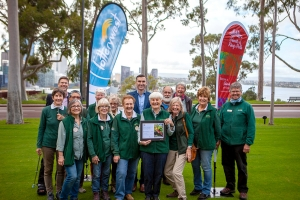 Friends of Kings Park  presented with $100,000 grant from Lotterywest for the 2019 Kings Park Festival. Photo: A. Castle.