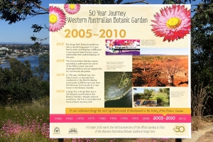 Anniversary exhibition '50 Year Journey', dotted throughout the WA Botanic Garden is on display until the end of 2015.
