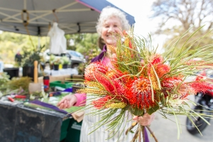 Festival Florist helped visitors to take a piece of the park home. Photo: J. Thomas.
