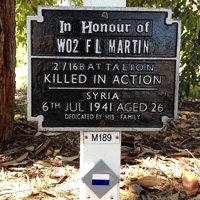 Photo of plaque M189