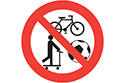 No bikes or skateboards