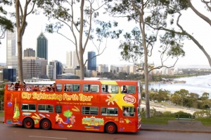 Perth City Sightseeing Bus.