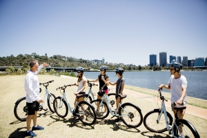 GoGo Active Tours offers guided cycling tours around some of Perth's most picturesque places. Photo: GoGo Active Tours.