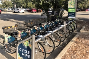 Spinway bikes for hire in Kings Park