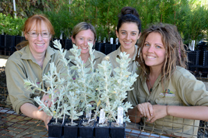Kings Park horticultural trainees.