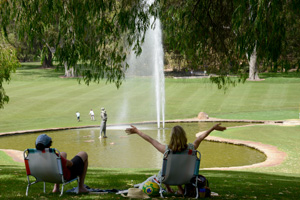 People enjoying the park. Photo: D. Blumer.